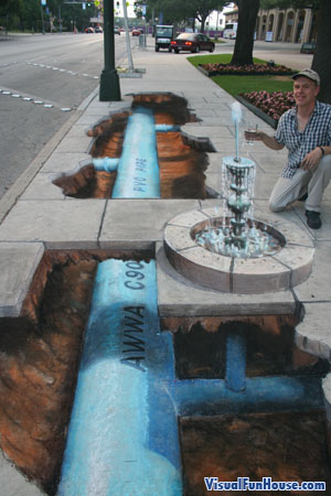 3D chalk fountain