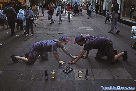 3D chalk Twin
