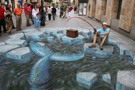 3D chalk Artic whale