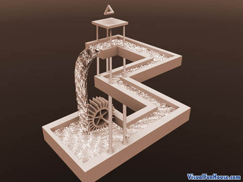 Escher waterfall recreation