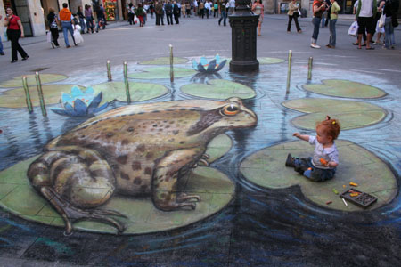 3D Chalk Frog