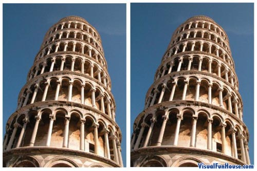 Leaning Towers Illusion