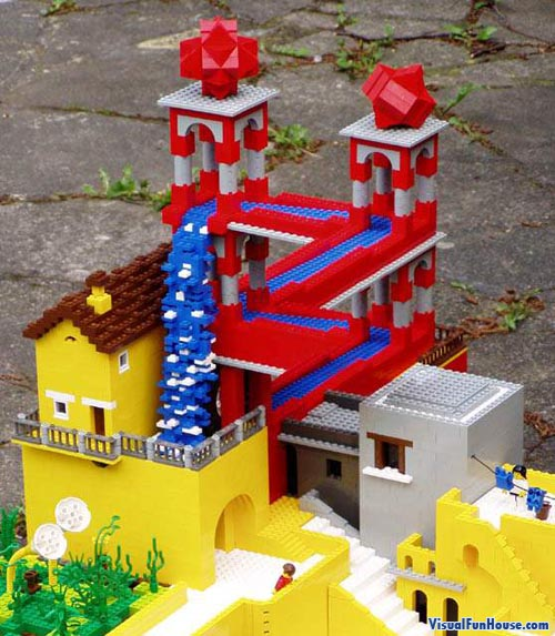 Escher waterfall in lego