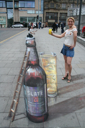 3D chalk perception bottle