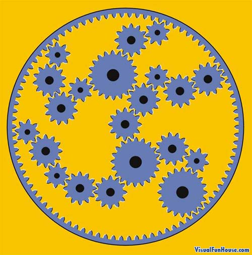 Moving Gears Illusion