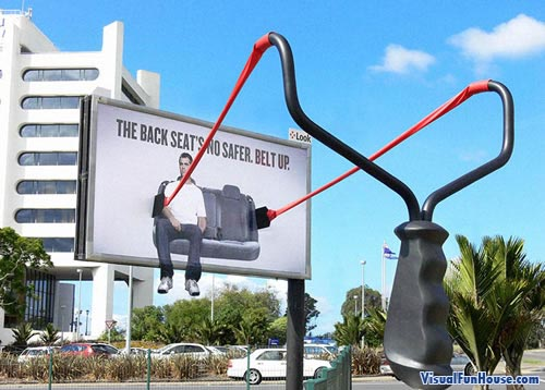 Seat belt billboard