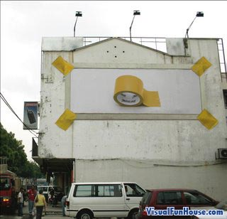 Strong Tape billboard