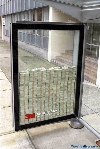 3M Saftey Glass Optical Illusion