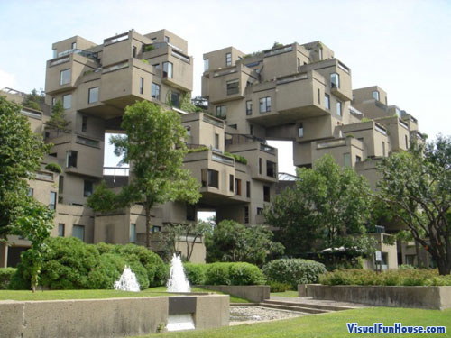 Block Apartment Building illusion