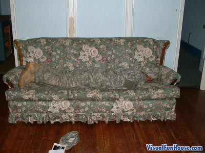 Camo Couch Optical Illusion