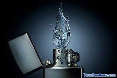 Zippo Lighter Water Flame
