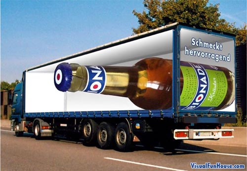 Painted Truck Optical Illusion Semi Beer