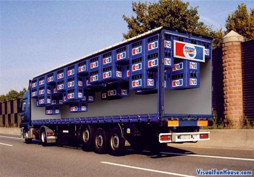 Painted Truck Pepsi Optical Illusion