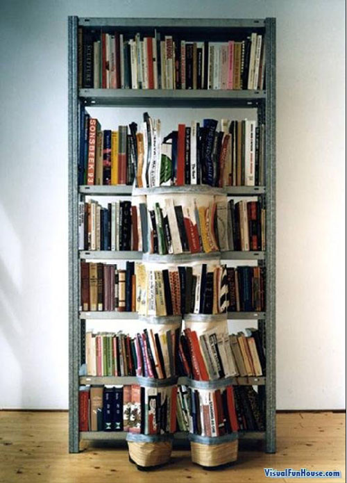 Book Shelve Camouflage Sutits
