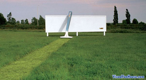 Razor Billboard Optical Illusion