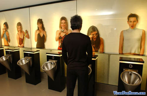 Urinal Women Optical Illusion