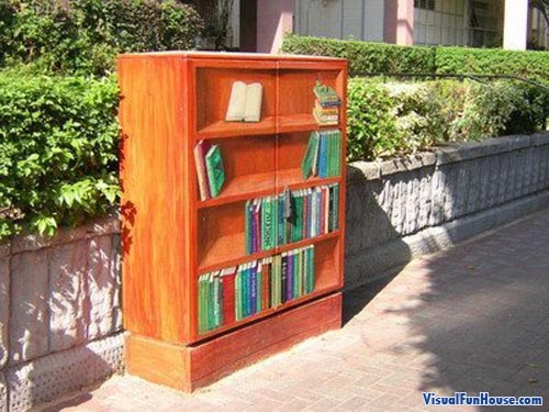 Book Shelve Painted Electrical Box