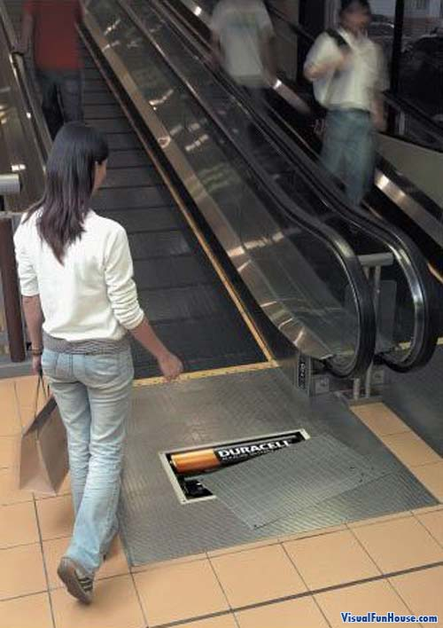Duracell Powered Escalator, those batteries pack a lot of power!