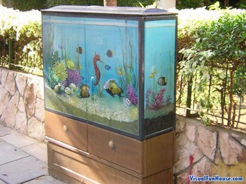 Fish Tank Painted Electrical Box