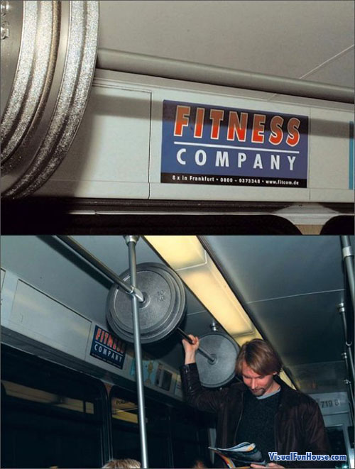subway barbell ad