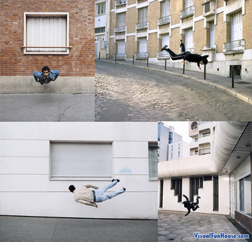 Free Fall in Paris Optical Illusion