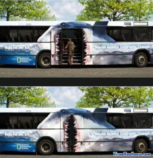 National Geographic Shark Bus Ad
