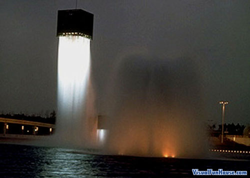 9 Floating Fountains optical illusion by isamu noguchi