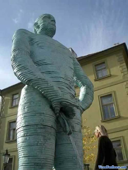 A Giant peeing statue from Prague, kinda strange if you ask me.