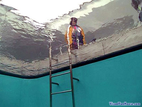 under water optical illusion