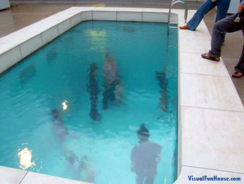 Walking Under Water Optical Illusion
