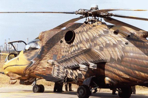 Russian Painted Eagle Helicopter
