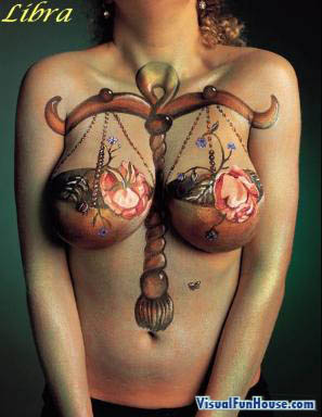 Libra body art