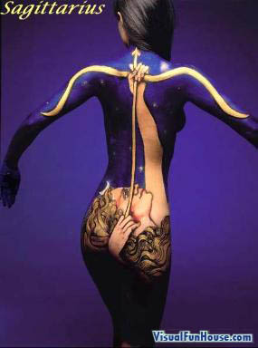 Sagittariuses nude body art
