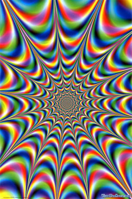 throbbing fractal optical illusion visualfunhouse
