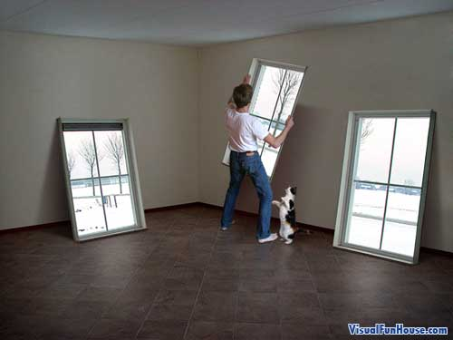 Need to renovate, just pick up and rehang your windows!