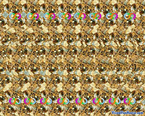 Stare into the Magic Eye Infinity Illusion