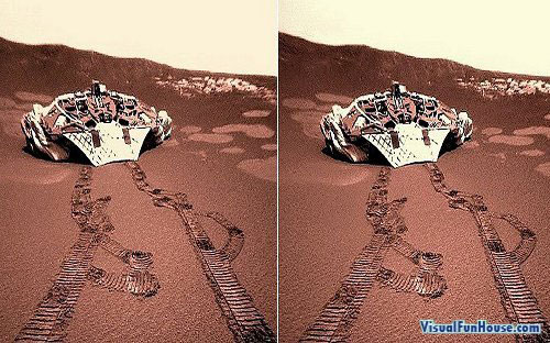 3D stereo graph of the mars land rover