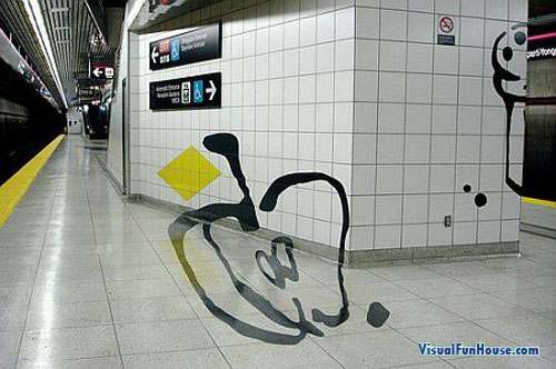 3D Apple in the subway