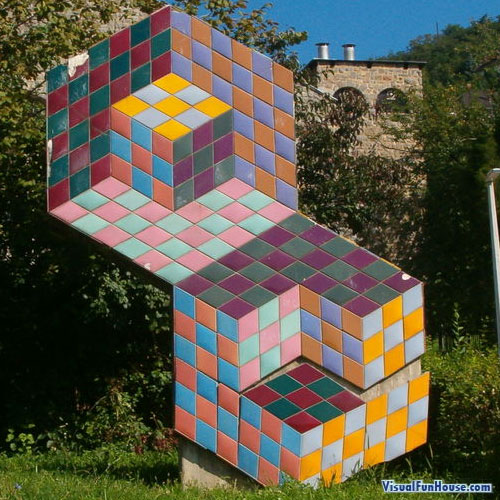 Vasarely Optical Illusion