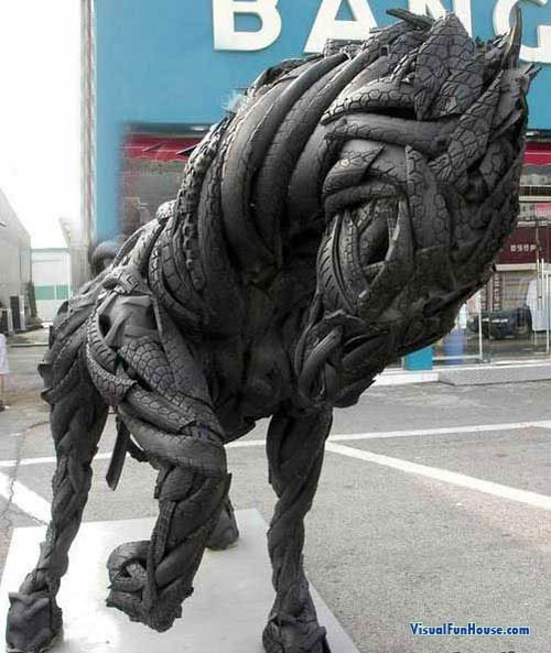 Horse Tire Sculpture