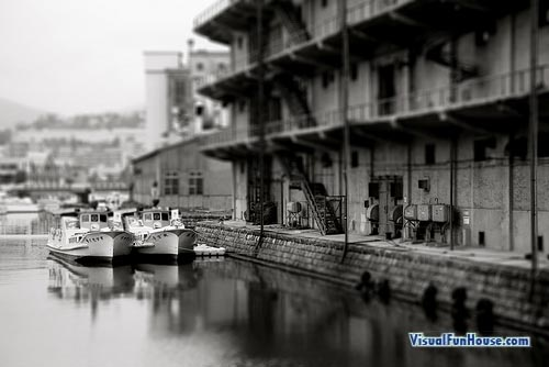 Miniature harbor Optical Illusion