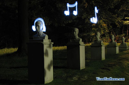 Music Light Graffiti Long Exposure Illusion