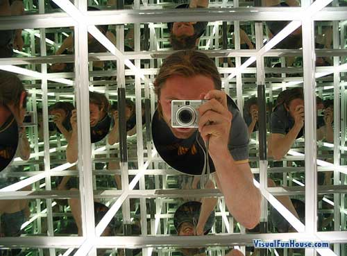 Reflection Cube Optical Illusion. Lost yet?