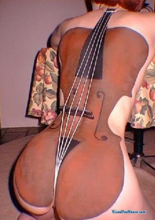 Violin Body Paint