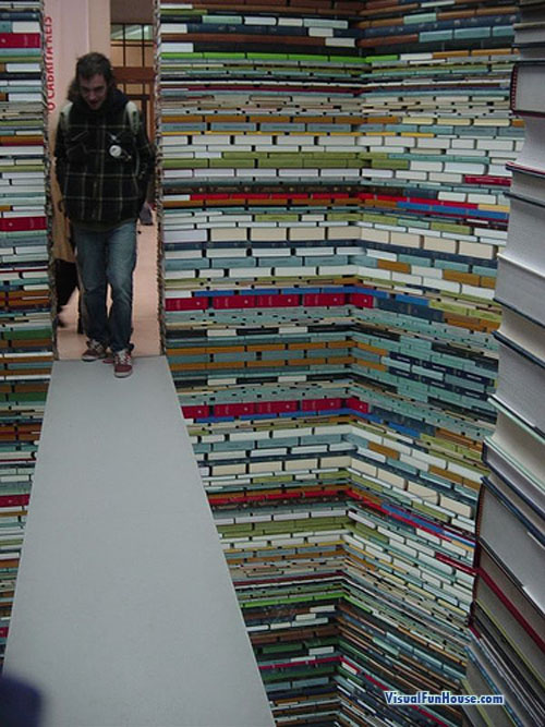 Book Room Optical Illusion