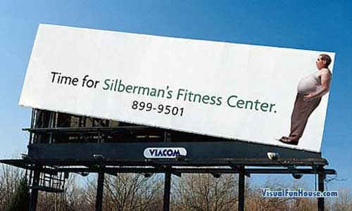 Silberman Weight Loss Billboard Optical Illusion