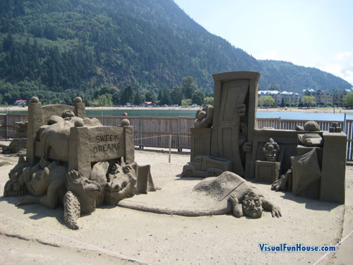 Sweet Dreams - Monsters under the bed and in the Closet Sand Sculpture