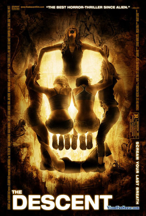 The Decent Movie Poster - Skull Optical Illusion