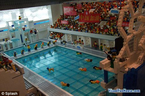 Olympic Lego Swimming