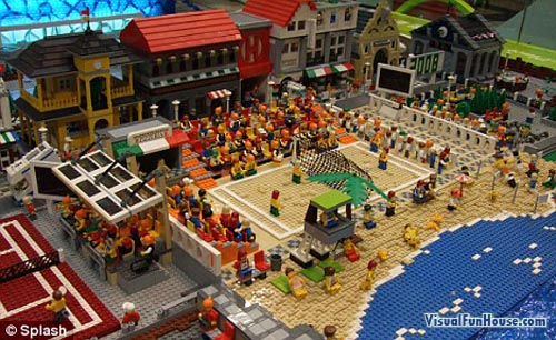 volleyball pictures olympics. Olympic Lego Beach Volleyball
